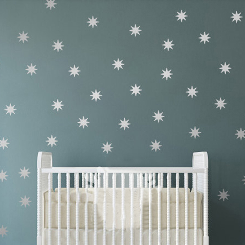 Star Wall Decal Sparkle Decals Seeing Vinyl Removable Art Starbursts Nursery Decor Kids Free Shipping In Stickers From Home