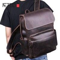 Aetoo Crazy Horse кожи сумка мужской кожаный ретро досуг первый слой из воловьей кожи сумка дорожная сумка рюкзак сумка для ноутбука;