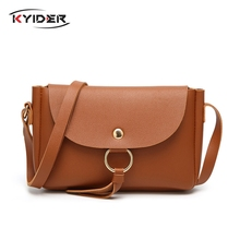 KYIDER Fashion Leather Bags For Women 2019 Sac Femme Ring Messenger Crossbody Female Clutch Shoulder Bag Cheap
