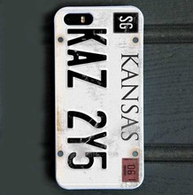 Supernatural License Plate Hard Phone Case for iPhone