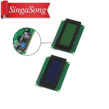 Lcd2004 + i2c 2004 20x4 2004a azul/tela verde hd4780 caráter lcd/com iic/i2c módulo adaptador de interface serial para arduino