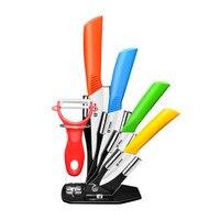 5Pcs/set High Quality Zirconia Kitchen Knives Ceramic Knife Set With Peeler Knife Set Tools
