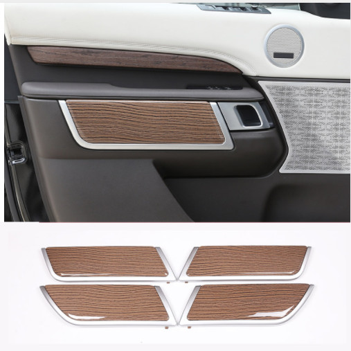 Sands Wood Grain Style Car Interior Door Decoration Panel Cover Trim For Land Rover Discovery 5 2017 Replacement Parts Auto Part