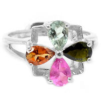 Genuine Tourmaline Ring 100 925 Sterling Silver Size O1 2 3 3 G AR0041