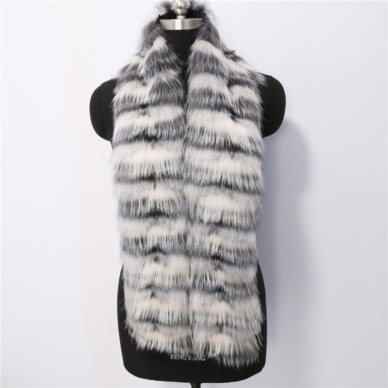 Nouveau mode mixte couleur sex fox écharpe de fourrure