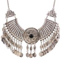 XL6020 Europe And The United States Big Fashion Retro Exaggerated Coin Necklace Necklace Necklace