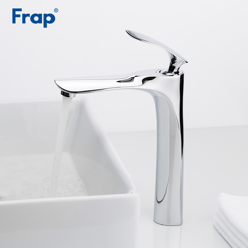 Frap New Deck Mount Chrome Bathroom Basin Faucet Shower Bath Faucets Vanity Vessel Sinks Mixer Tap Cold And Hot Water Tap Y10093 contemporary kitchen faucet hot and cold mixer water tap deck mounted rotate stainless steel basin sinks tap bathroom faucets