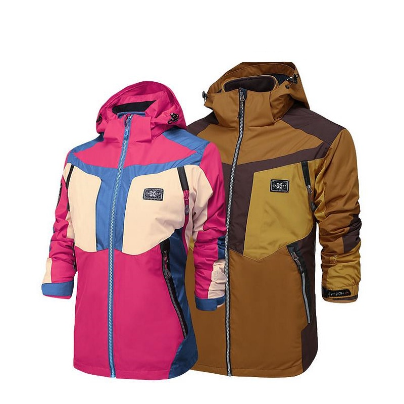 Lovers 3 in 1 Men Hiking Jackets Two Pieces Outdoors Windbreaker Winter Warm Coats 2 in 1 Trekking Camping Jacket Man nianjeep brand winter men s classic 3 in 1 jackets male 2 pieces mountaineering bomber warm coats waterproof windbreaker outwear
