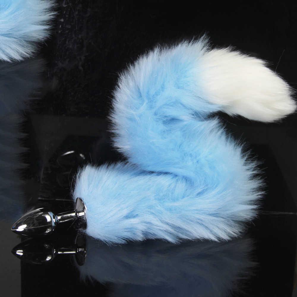 6f58447ad ... bdSM Dog Fox Tail Anal Plug sexy Toys Metal Fake Furry Butt Plug BDSM  Flirt Anus ...