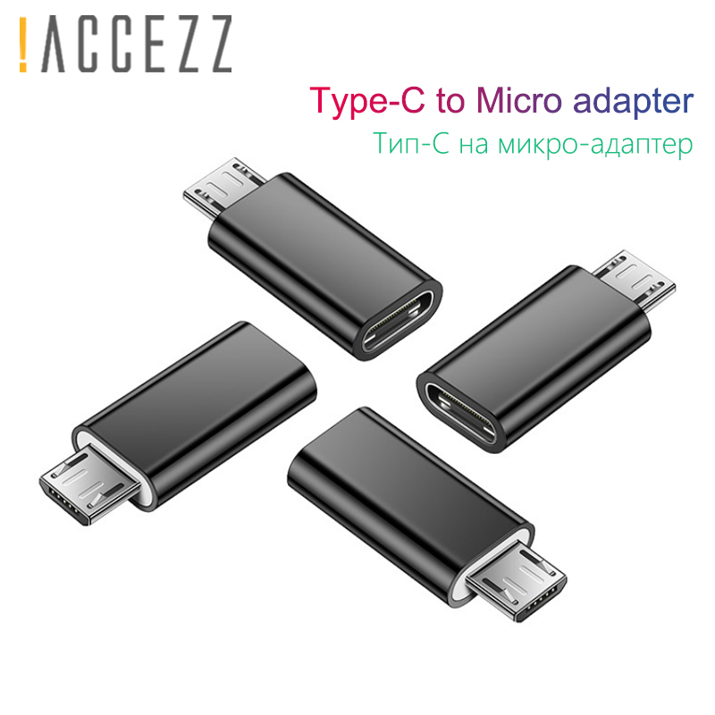!ACCEZZ USB Micro USB Male Adapter To Type-C Female OTG Micro USB Android Converter For Xiaomi Redmi Samsung Galaxy S6 S7 Huawei