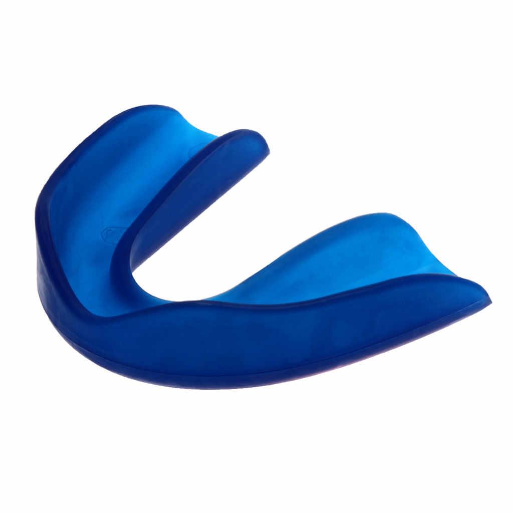 Rõ Ràng Gum Shield Răng Tấm Bảo Vệ Bảo Vệ Miệng Bộ Bóng Bầu Dục Thể Thao Bóng Rổ Bóng Đá Bóng Bầu Dục Quyền Anh Nẹp Nhựa PVC Bền Chắc Răng Tay