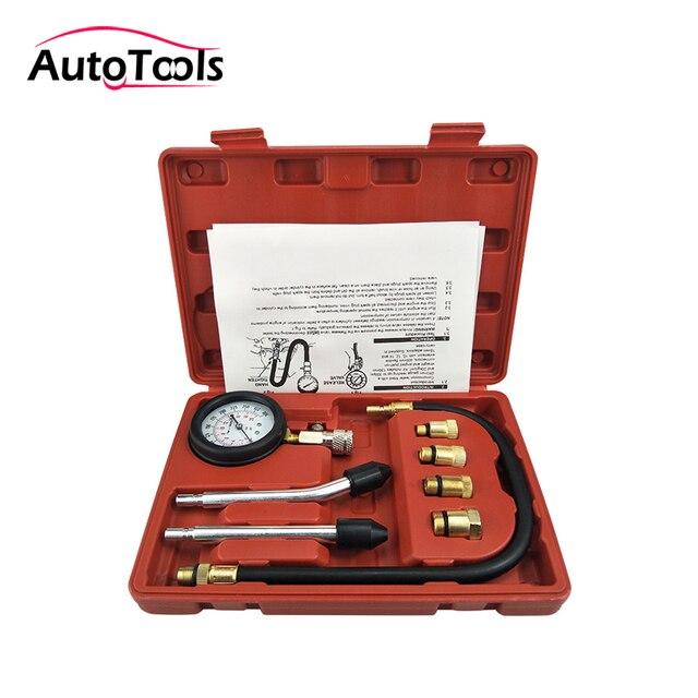 New Rapid Type Pressure Gauge Tester Kit Motor Auto Petrol Gas Engine Cylinder Compression Gauge Tester Tool car diagnostic-tool