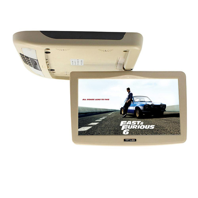 10.1 Polegada TFT LCD HDMI Monitor de montagem Do Telhado do carro teto flip down para peugeot Exibição conectar carro DVD Player USB SD IR FM Vídeo