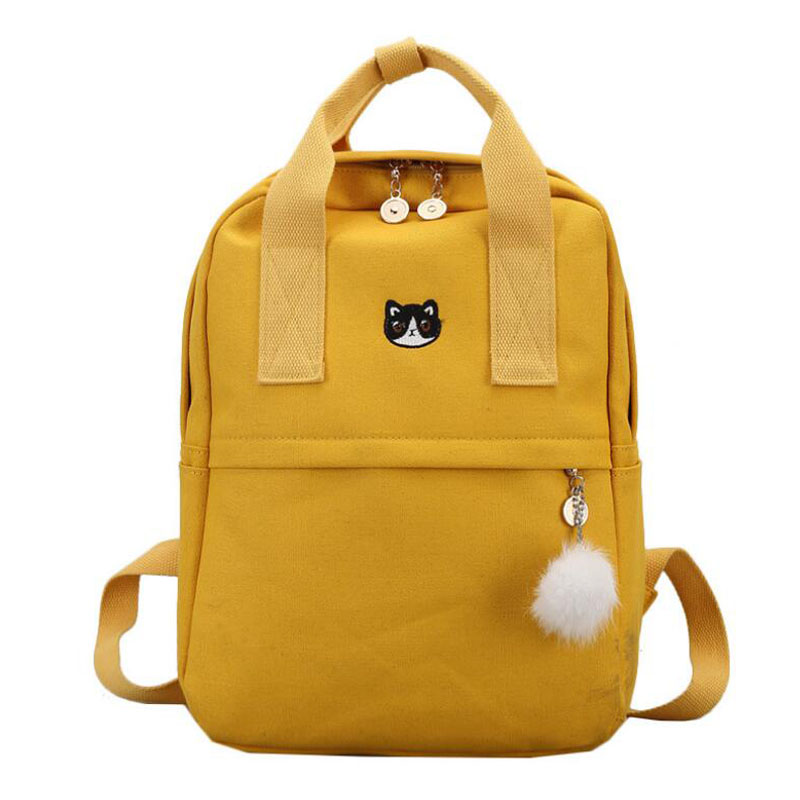 Fashion Women <font><b>Backpack</b></font> <font><b>for</b></font> <font><b>School</b></font> <font><b>Teenagers</b></font> Girls Stylish <font><b>School</b></font> Bag Ladies Canvas Fabric <font><b>Backpack</b></font> Female Bookbag Mochila image
