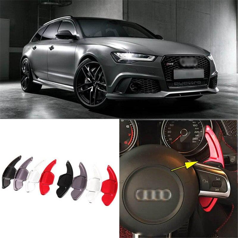 1 paire Alliage Ajouter-Sur Volant DSG Paddle Manettes Extension Pour Audi RS6