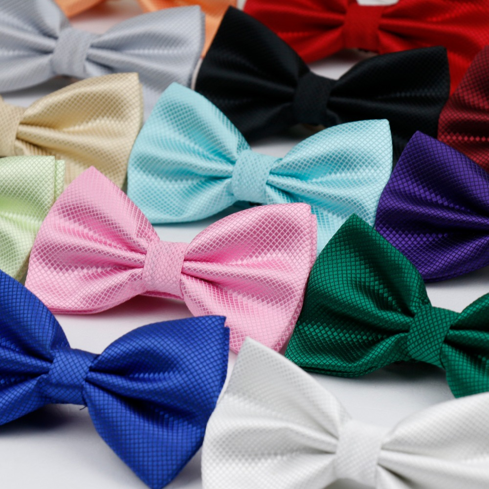 Hot Selling Plaid Bowties Groom Mens Solid Fashion Cravat For Men Butterfly Gravata Male Marriage Wedding Party Bow Ties BT-001