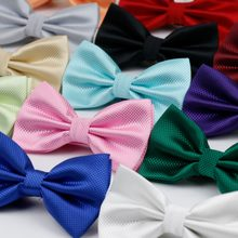 Hot Selling Plaid Bowties Groom Mens Solid Fashion Cravat For Men Butterfly Gravata Male Marriage Wedding Party Bow Ties BT-001(China)