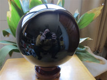 ddh001718 perfect black obsidian natural quartz crystal sphere ball + stand(China)