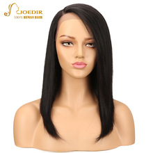 hot deal buy joedir hair part lace wigs short human hair lace front wigs for black women straight remy hair wig ombre bob wig free shipping