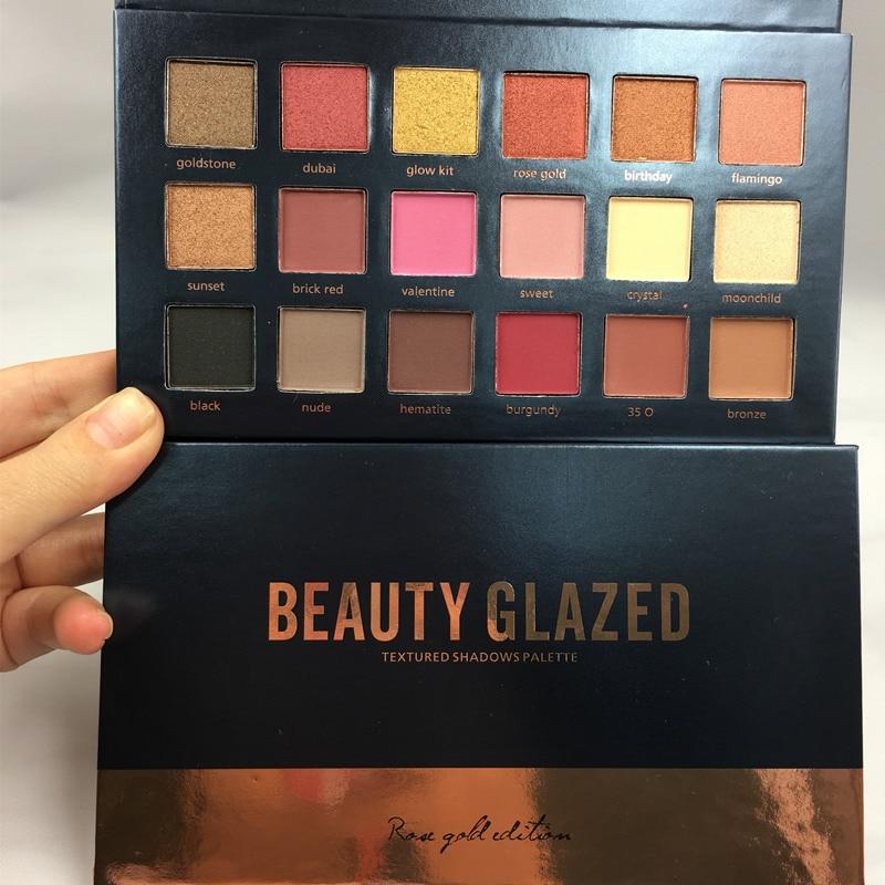 US $4 68 5% OFF 2018 Beauty Glazed 18 Colors Pressed Illuminating Powder  Makeup Eyeshadow Palette Skinny Dip Eye Shadow Eyeshadow Palette -in Eye