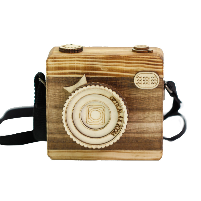 Cute Nordic Hanging Wooden Camera Toys Kids Toys  Room Decor Furnishing Articles Wooden Toy Birthday Gift For Kid