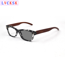 Intelligent Photochromic Myopia Sunglasses Wooden Legs Men nearsighted Eyeglasses Women Shortsighted Spectacles 0,-1.0~-6.0 L3