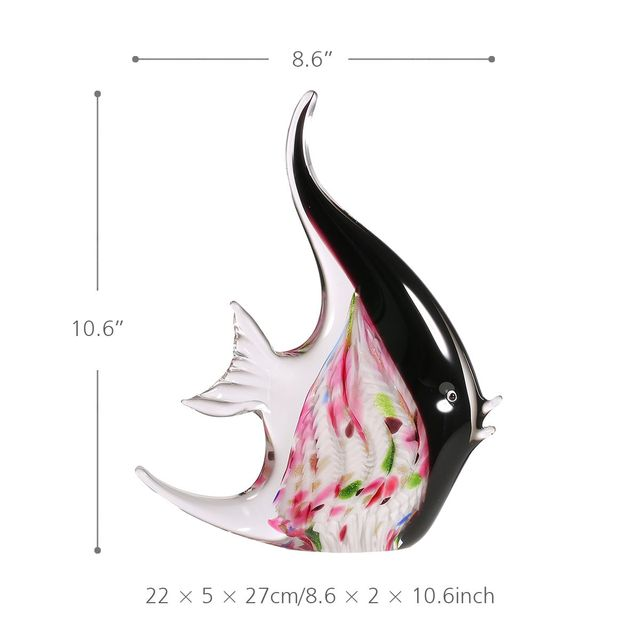 Flower Fish Glass Figurines 4