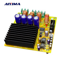 Aiyima 2x300W TAS5630 Dual Channel Class D Digital Amplifier Board HIFI High Power With AD827 Preamp DC20-50V(China)