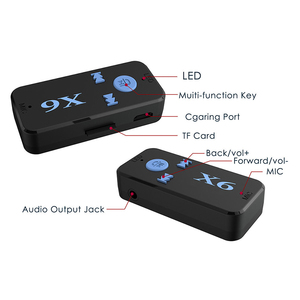 Image 5 - Bluetooth Receiver 3.5mm Jack Car AUX Audio Portable Mini Wireless Adapter Hands free Car Kits TF Card Play Mp3 Music Receiver