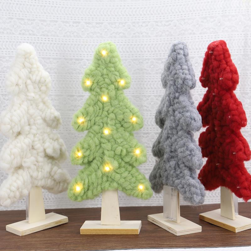 Lighted Christmas Tree.Us 13 41 30 Off Wool Mini Lighted Christmas Tree Christmas Home Decoration For Home Bars Shopping Malls Add The Festive Atmosphere Classic Style In