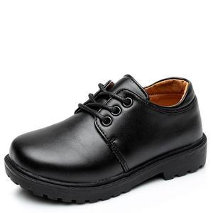 Image 4 - جديد بنين أحذية من الجلد النمط البريطاني مدرسة الأداء أطفال أحذية الحفلات الزفاف أبيض أسود أحذية الأطفال الأخفاف غير رسمية