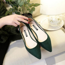NAUSK/Новинка; женская замшевая обувь на плоской подошве; модная высококачественная базовая обувь; Разноцветные балетки с острым носком; балетки на плоской подошве; слипоны