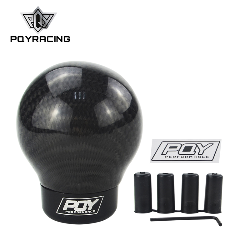 PQY Real Carbon Fiber Aluminum Gear knob Manual Transmission Aluminum Gear Shift Knob For Honda VW BMW PQY-GSK07