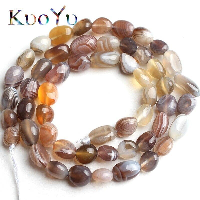 6-8mm Natural Irregular Botswana Sardonyx Agates Beads Loose Stone Spacer Beads For Jewelry Making DIY Bracelet 15''Strand/Inch