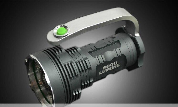 Professionnel camping led lumière en alliage d'aluminium t6 lampe de poche camping en plein air led lampe de poche