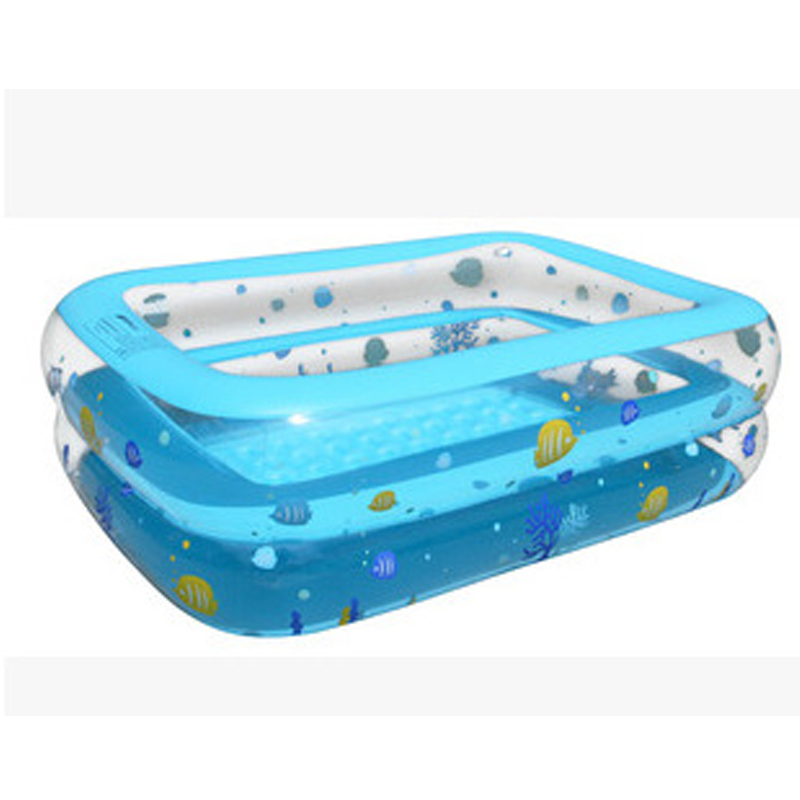 2016 hot childrens inflatable square swimming pool babys printed rectangular kids paddling pool size 130