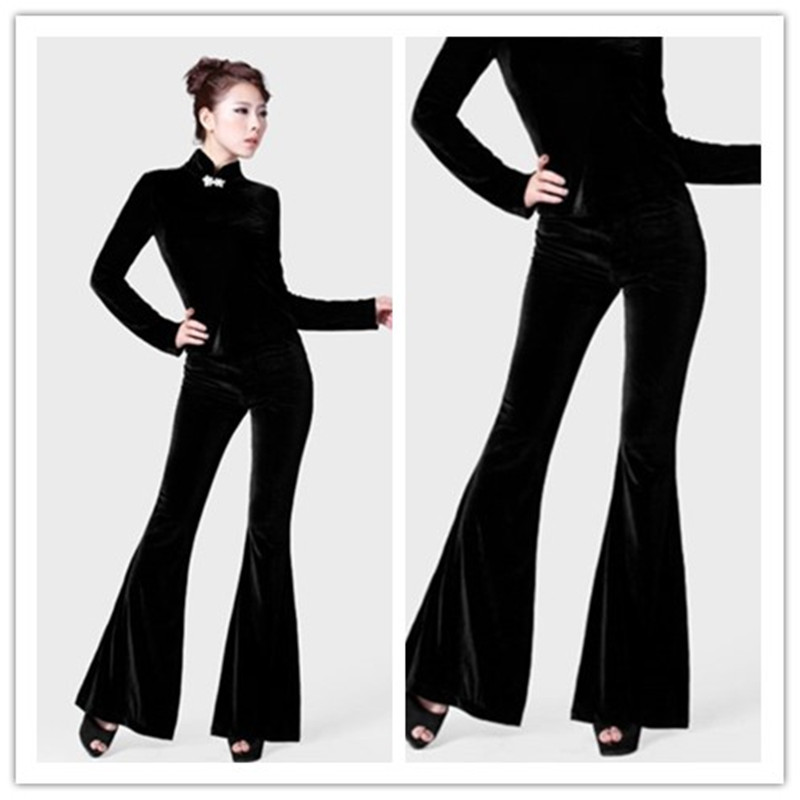 Blue naby Las Tamaño De Invierno verde Moda Plus Nueva Terciopelo 2019 Largos Europeo Para Gratis Envío S 5xl Pantalones Mujeres Negro Negro 0fqFvHRWnW