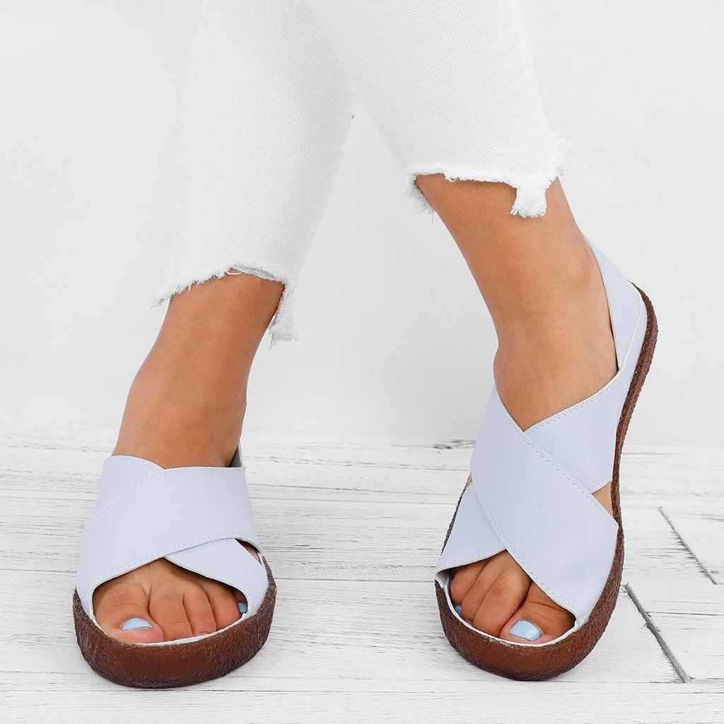 PUIMENTIUA Casual Shoes Faux Leather Comfortable Peep Toe Sandals Fashion  Torridity Woman Leather Beach Sandalias Mujer