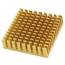 цена на Gold Tone Aluminium 40mmx40mmx11mm Heatsink Cooling Cooler Fin for CPU