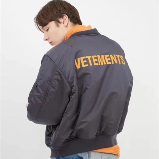 20a41033533a Vetements Jacket Men 1 1 High Quality Double-sided Wear MA-1 Bomber  Vetements Coat Flight Force Pilot Jacket Vetements Jacket