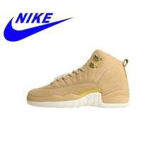 7a836b8f2f5cd3 Original Nike Air Jordan 12 Vachetta Tan Women s Skateboarding Shoes New Outdoor  Sports Shoes Shock Absorption AO6068 203