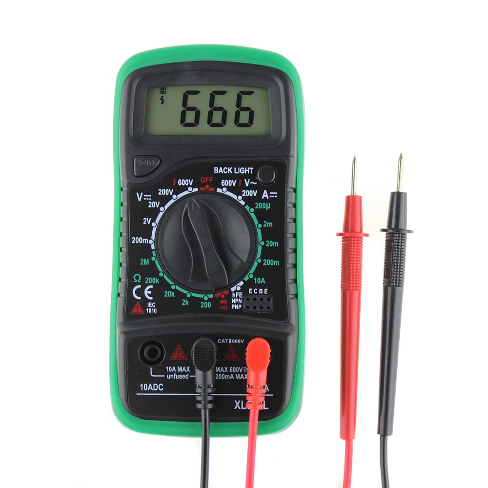 New Arrival XL830L LCD Digital Multimeter Current Voltage Resistance Transistor Temperature Tester Meter Multimetro P30 мультиметр flyfireshop 2 lcd avometer xl830l