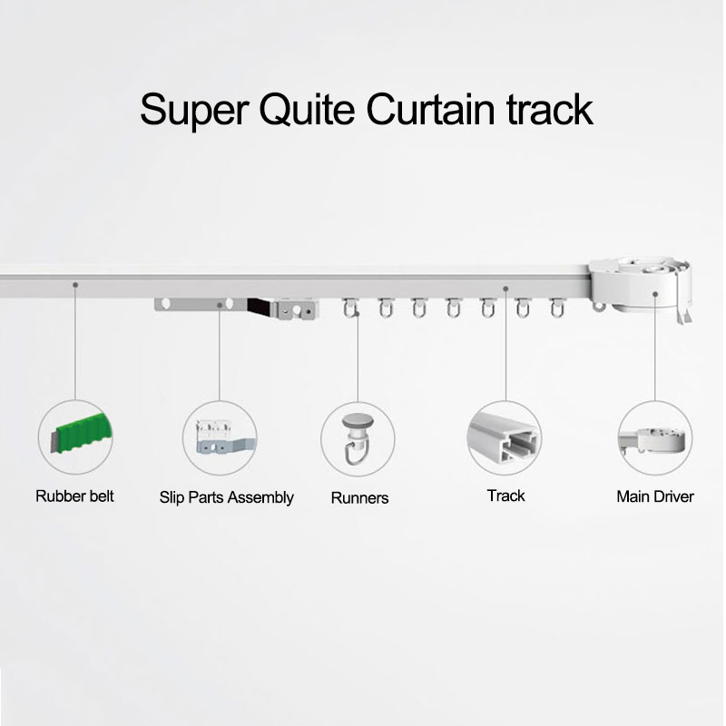 Original Super Quiet Electric Curtain Track For Xiaomi Aqara Motor, Dooya Motor KT82TN Automatic Curtain Rail System, Smart Home