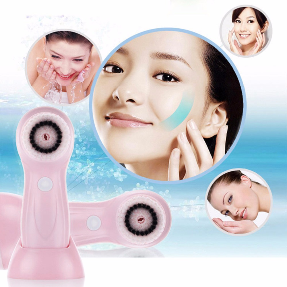 Electric Face Brush Waterproof Facial Cleansing Tools Household USB Rechargeable Facial Washing Cleaning Brush Machine Pink Blue multifunctional electric face facial cleansing tools household usb rechargeable facial washing cleaning brush machine