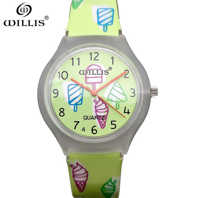 WILLIS Brand 2017 New Fashion Wrist Watch Women Silicone strap Casual Quartz Clock Wristwatch Gift Top Brand Relogio Masculino