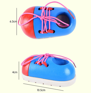 Image 5 - 1 adet rastgele çocuklar Montessori eğitim oyuncaklar çocuk ahşap oyuncaklar Toddler bağcık ayakkabı erken eğitim Montessori eğitimi destekleyicileri