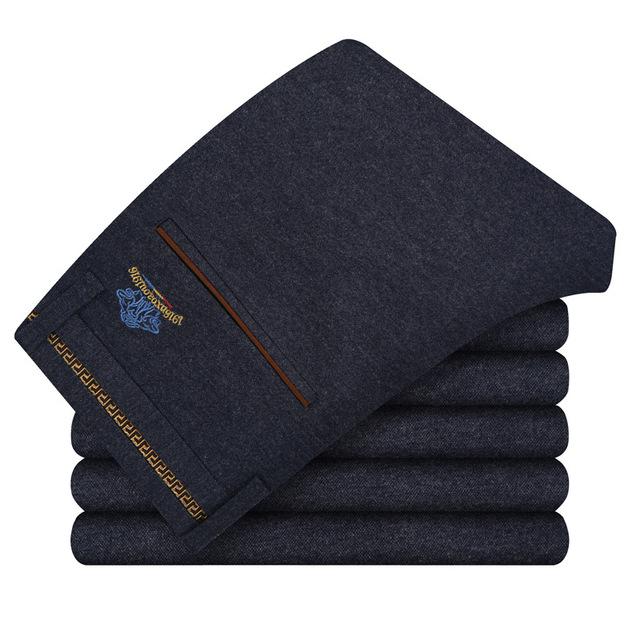 Tamaño 28-38 Nuevo Otoño Hombres Pantalones Casuales Tela de Lija Largo Clásico de la Moda de Marca Pantalones Hombres de Negocios Pantalones Rectos U20