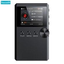 Yescool S5 hifi стерео без потерь лектор музыкальный MP3 плеер мини Спорт walkman 128G TF аудиофил flac DSD полный формат декодирования