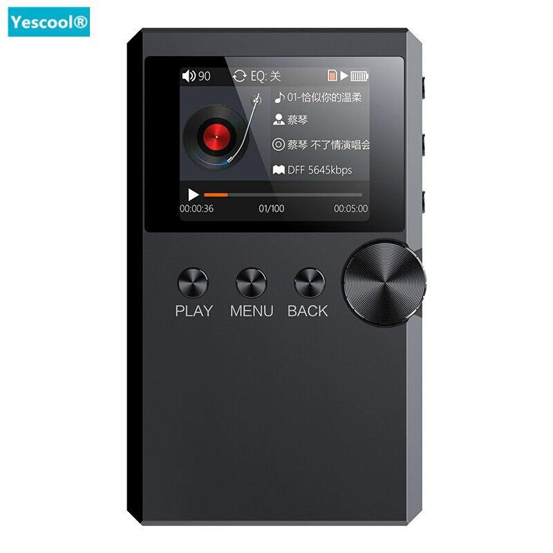 Yescool S5 hifi stéréo Sans Perte lecteur musique MP3 lecteur Mini Sport walkman 128g TF Audiophile flac DSD Plein format décodage