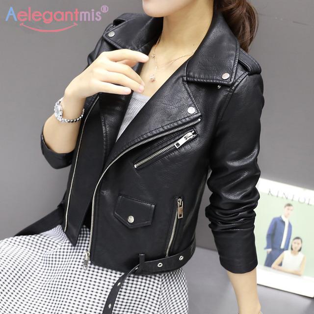 Autumn New Short Faux Soft Leather Jacket Women Fashion Zipper Motorcycle PU Leather Jacket